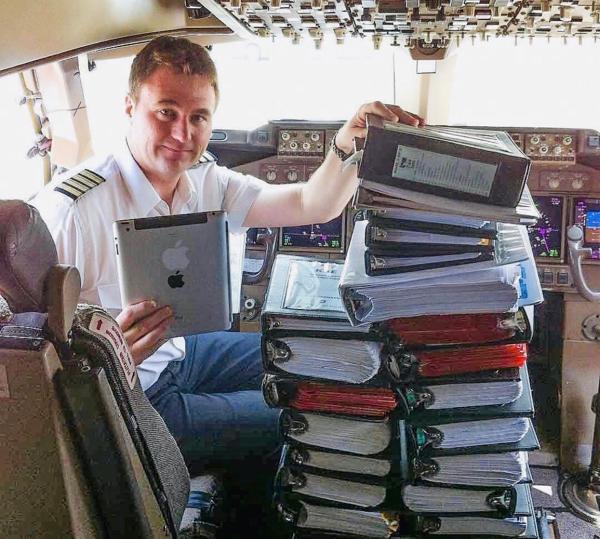 Elektronische Flugunterlagen im Cockpit